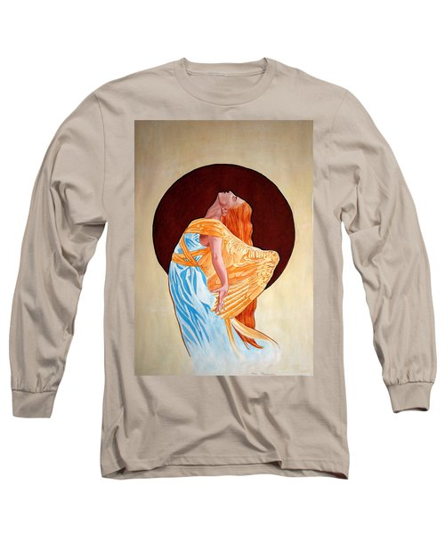 Long Sleeve T-Shirt featuring the painting Surrender by Leena Pekkalainen