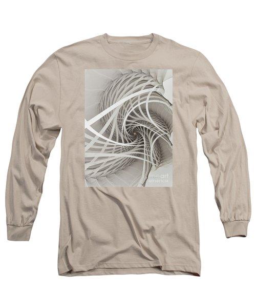 Suspension Bridge-fractal Art Long Sleeve T-Shirt by Karin Kuhlmann