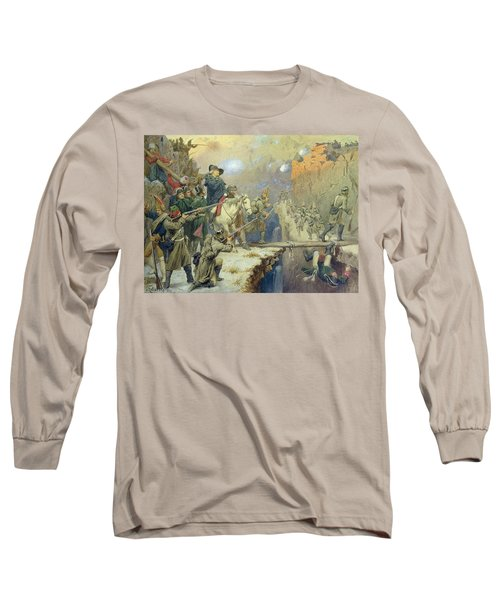Suvorov Crossing The Devils Bridge In 1799, 1880 Wc On Paper Long Sleeve T-Shirt