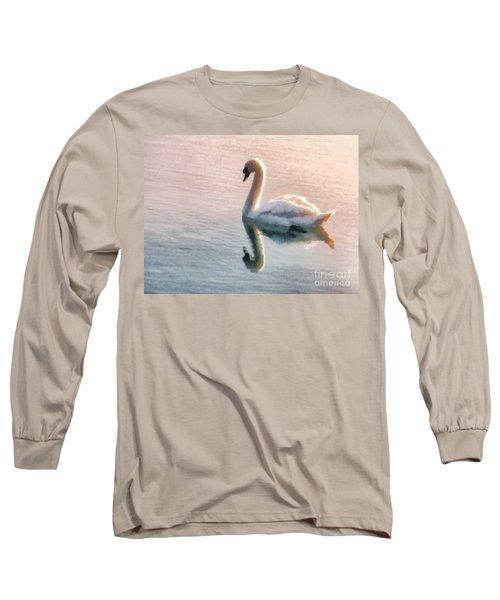 Swan On Lake Long Sleeve T-Shirt