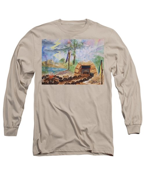 Sweat Lodge Long Sleeve T-Shirt by Ellen Levinson