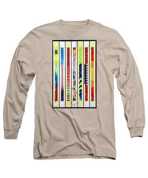 Long Sleeve T-Shirt featuring the painting Sweeping Gesture by Thomas Gronowski