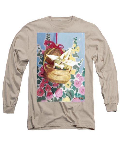 Sweetgrass Basket With Lilies Long Sleeve T-Shirt