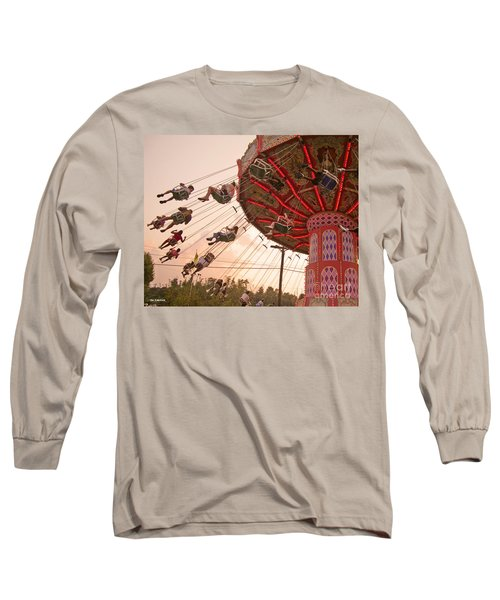 Swings At Kennywood Park Long Sleeve T-Shirt by Carrie Zahniser
