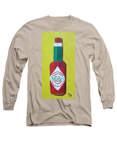 Tabasco Brand Pepper Sauce Long Sleeve T-Shirt by Margaret Harmon