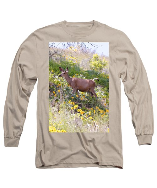 Taking A Stroll In The Country Long Sleeve T-Shirt by Athena Mckinzie
