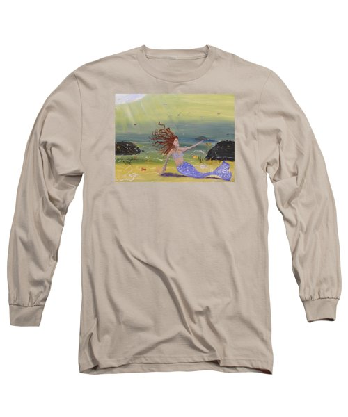 Talking To The Fishes Long Sleeve T-Shirt by Pamela  Meredith