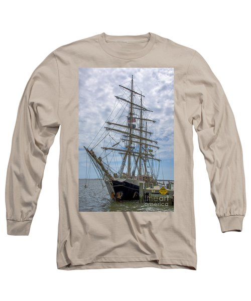 Tall Ship Gunilla Vertical Long Sleeve T-Shirt by Dale Powell