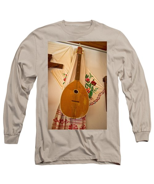 Tamburica Croatian Traditional Music Instrument Long Sleeve T-Shirt