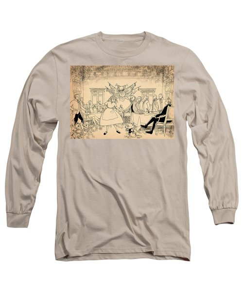 Long Sleeve T-Shirt featuring the drawing Tammy In Indpendence Hall by Reynold Jay