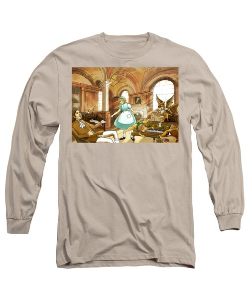 Long Sleeve T-Shirt featuring the painting Tammy Meets Mr. Scott by Reynold Jay