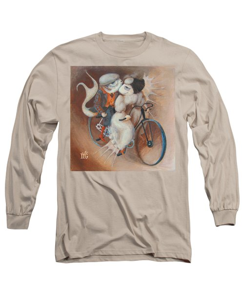 Long Sleeve T-Shirt featuring the painting Tandem by Marina Gnetetsky