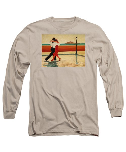 Tango Heat Long Sleeve T-Shirt by Janet McDonald