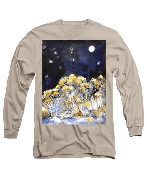 Taos Night Orbs Long Sleeve T-Shirt by Glory Wood