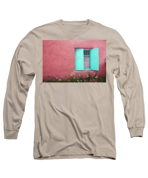 Long Sleeve T-Shirt featuring the photograph Taos Window I by Lanita Williams