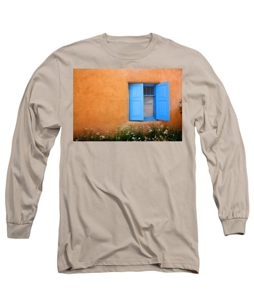 Long Sleeve T-Shirt featuring the photograph Taos Window V by Lanita Williams