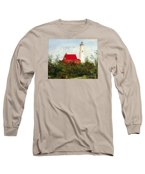 Long Sleeve T-Shirt featuring the painting Tawas by Lee Piper