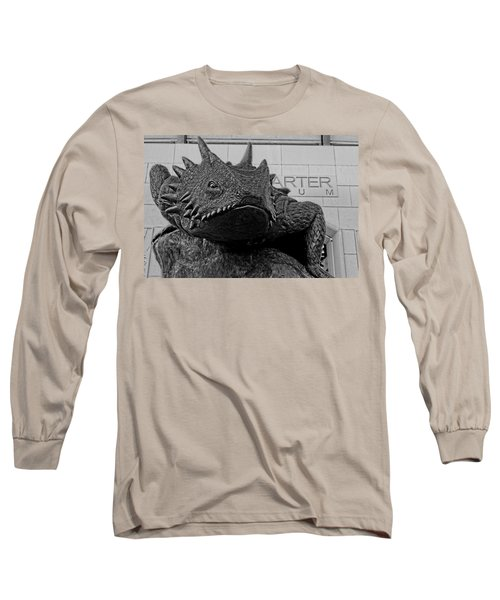 Tcu Horned Frog Black And White Long Sleeve T-Shirt