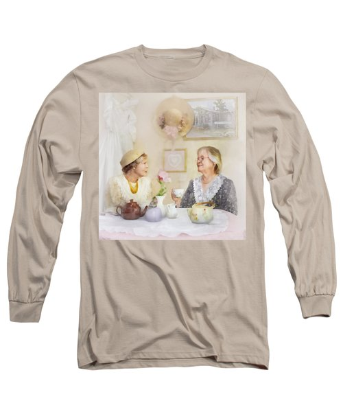 Tea And Talk Long Sleeve T-Shirt by Francesa Miller