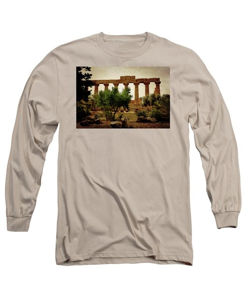 Temple Of Juno Lacinia In Agrigento Long Sleeve T-Shirt by RicardMN Photography