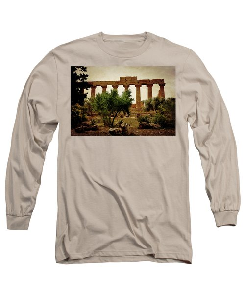 Temple Of Juno Lacinia In Agrigento Long Sleeve T-Shirt