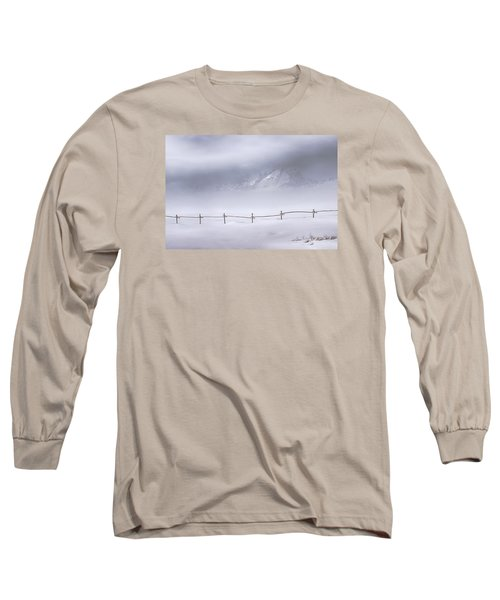 Long Sleeve T-Shirt featuring the photograph Teton Morning by Priscilla Burgers