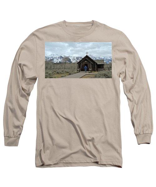 Tetons Chapel Of The Transfiguration Long Sleeve T-Shirt