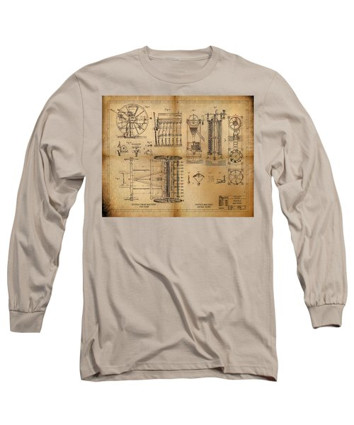 Long Sleeve T-Shirt featuring the painting Textile Machine by James Christopher Hill