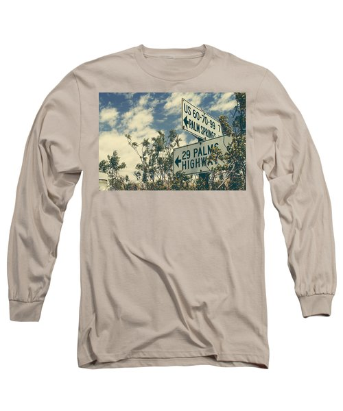Long Sleeve T-Shirt featuring the photograph Thattaway by Laurie Search