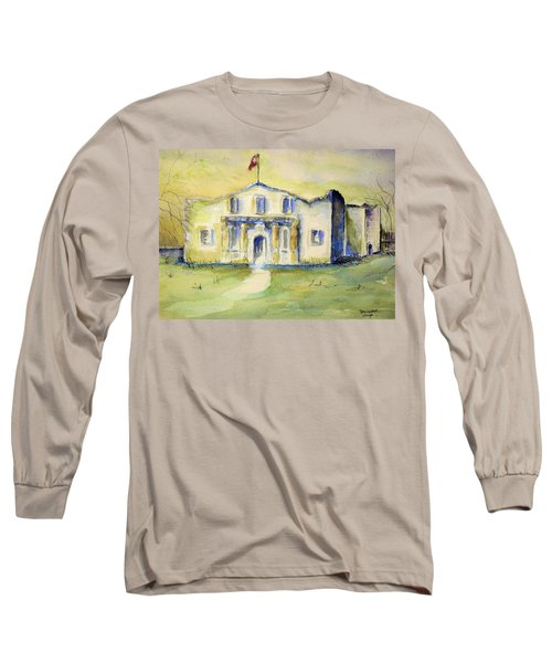 The Alamo  Long Sleeve T-Shirt by Bernadette Krupa