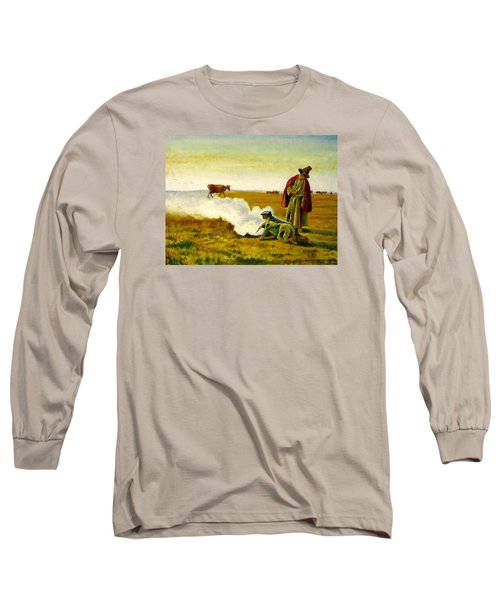Long Sleeve T-Shirt featuring the painting The Autumn by Henryk Gorecki