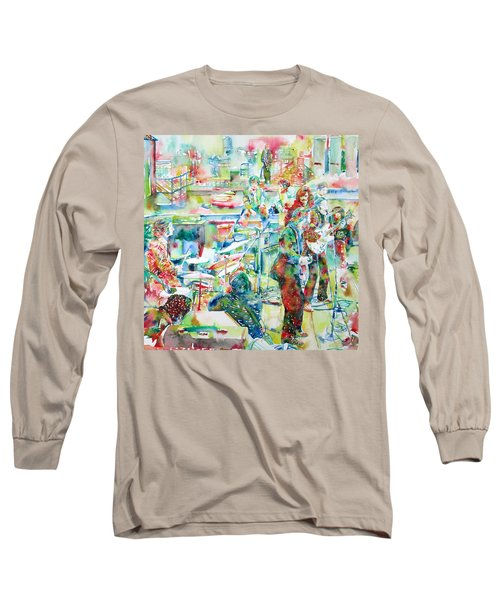 The Beatles Rooftop Concert - Watercolor Painting Long Sleeve T-Shirt