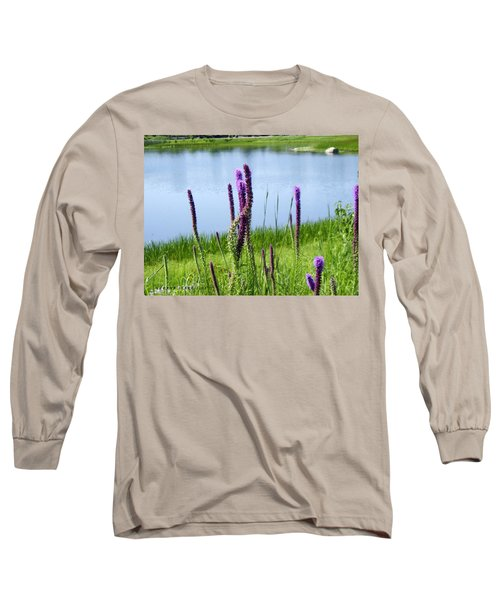Long Sleeve T-Shirt featuring the photograph The Beauty Of The Liatris by Verana Stark