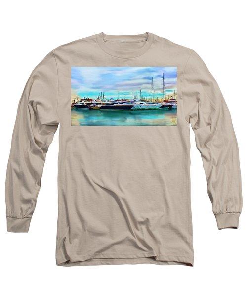 The Boats Of Malaga Spain Long Sleeve T-Shirt