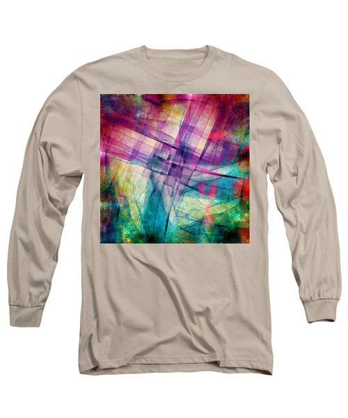 Long Sleeve T-Shirt featuring the digital art The Building Blocks by Angelina Vick
