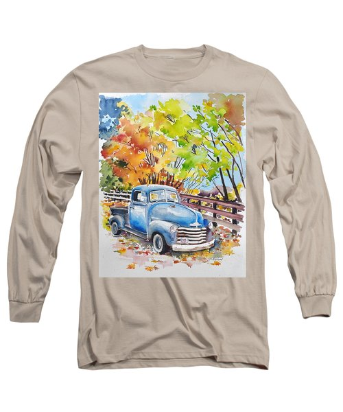 The Old Chevy In Autumn Long Sleeve T-Shirt