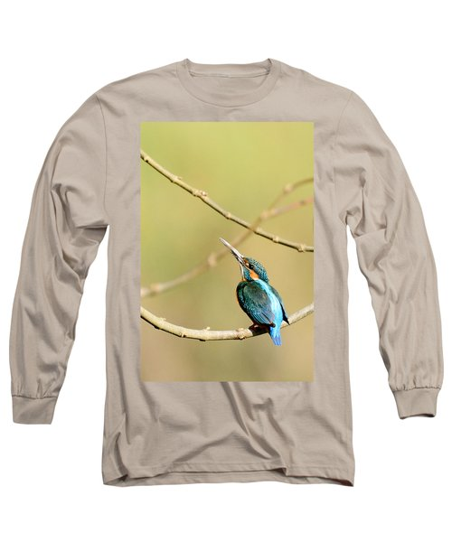 The Common Kingfisher Long Sleeve T-Shirt by Fotosas Photography