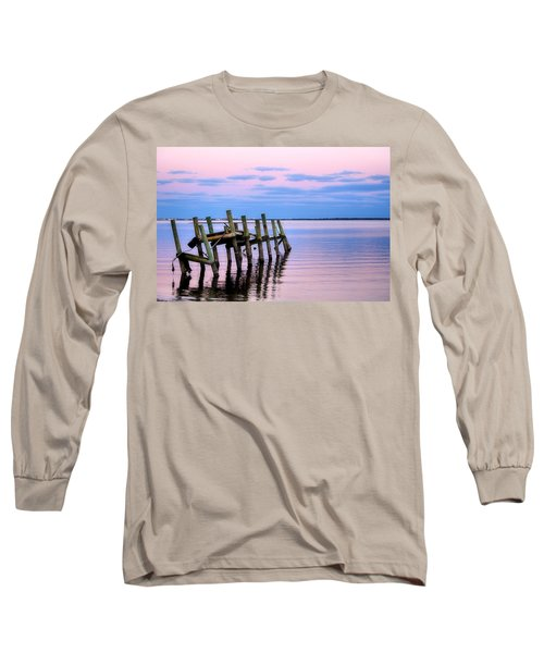 Long Sleeve T-Shirt featuring the photograph The Cove Dock by Brian Hughes