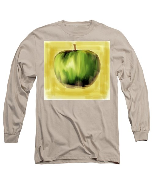 Long Sleeve T-Shirt featuring the painting The Creative Apple by Iconic Images Art Gallery David Pucciarelli