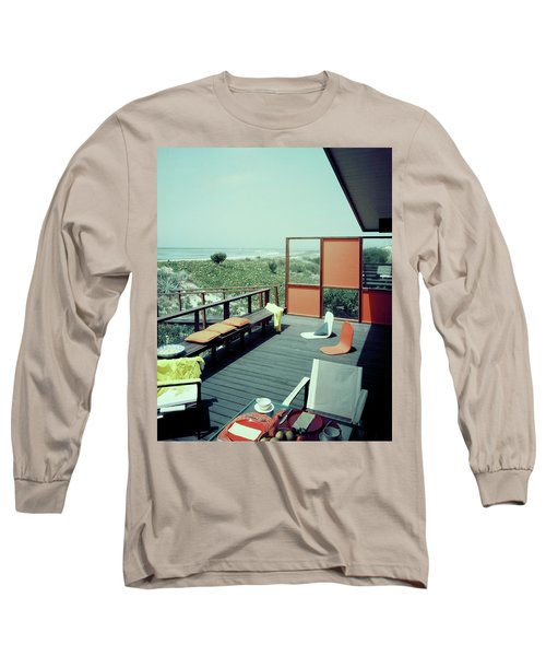 The Deck Of A Beach House Long Sleeve T-Shirt