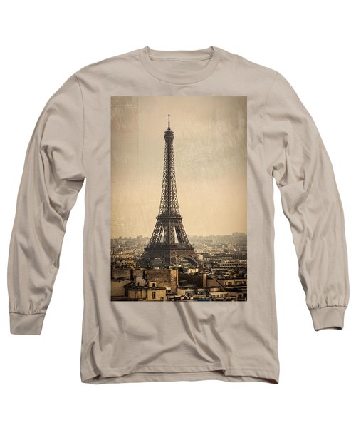 The Eiffel Tower In Paris France Long Sleeve T-Shirt