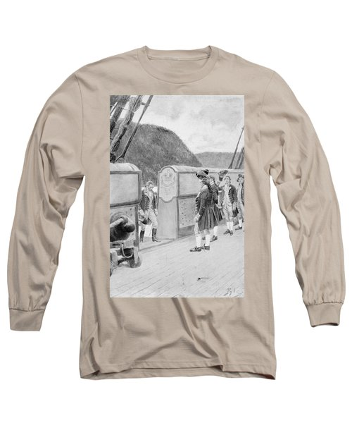 The Escape Of Arnold On The British Sloop-of-war Vulture, Illustration From General Washington Long Sleeve T-Shirt