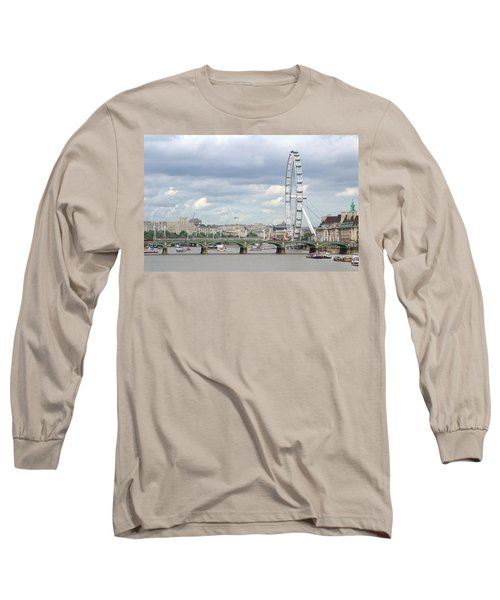 Long Sleeve T-Shirt featuring the photograph The Eye Of London by Keith Armstrong