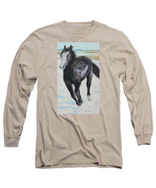 The Feel Of The Cool Air Long Sleeve T-Shirt by Jeanne Fischer