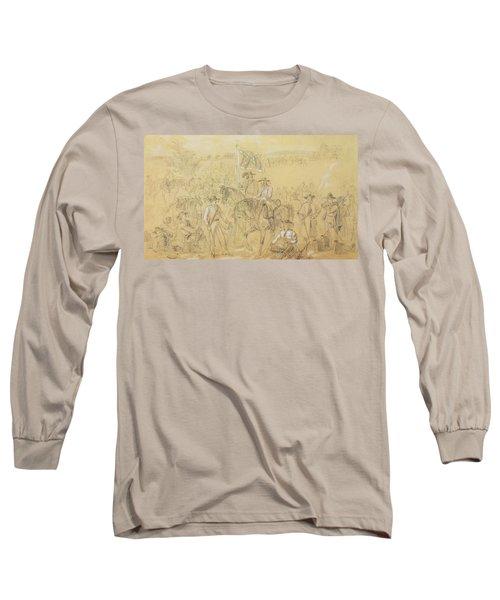 The First Virginia Cavalry At A Halt Long Sleeve T-Shirt