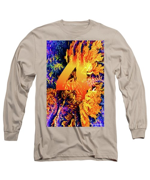 The Four Of Creation Long Sleeve T-Shirt by Chuck Mountain