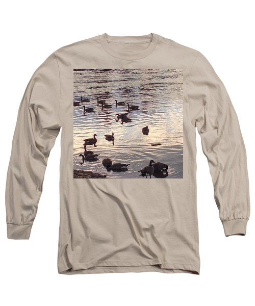 The Gathering - Willamette River Geese Long Sleeve T-Shirt