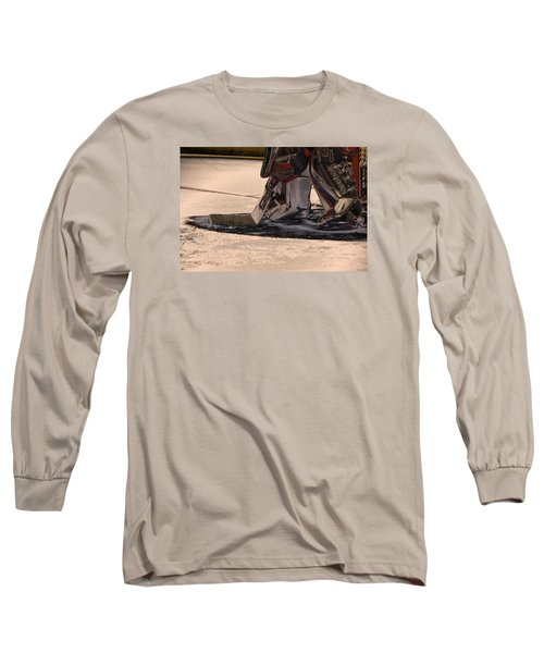 The Goalies Crease Long Sleeve T-Shirt by Karol Livote
