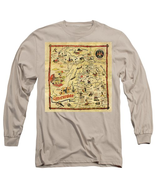 The Great Lakes State Long Sleeve T-Shirt
