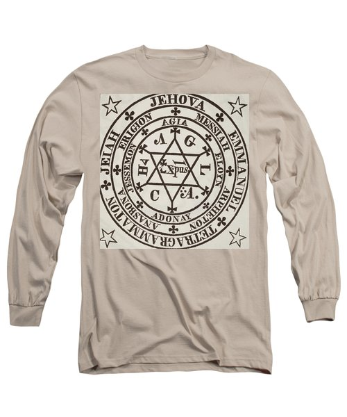 The Great Magic Circle Of Agrippa For The Evocation Of Demons Long Sleeve T-Shirt